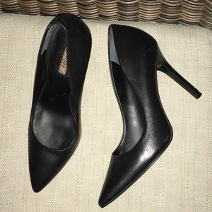 Guess Stiletto Black Leather Pumps 8.5